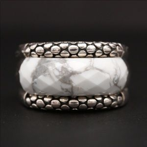 Michael Dawkins sterling silver magnesite ring. 5.
